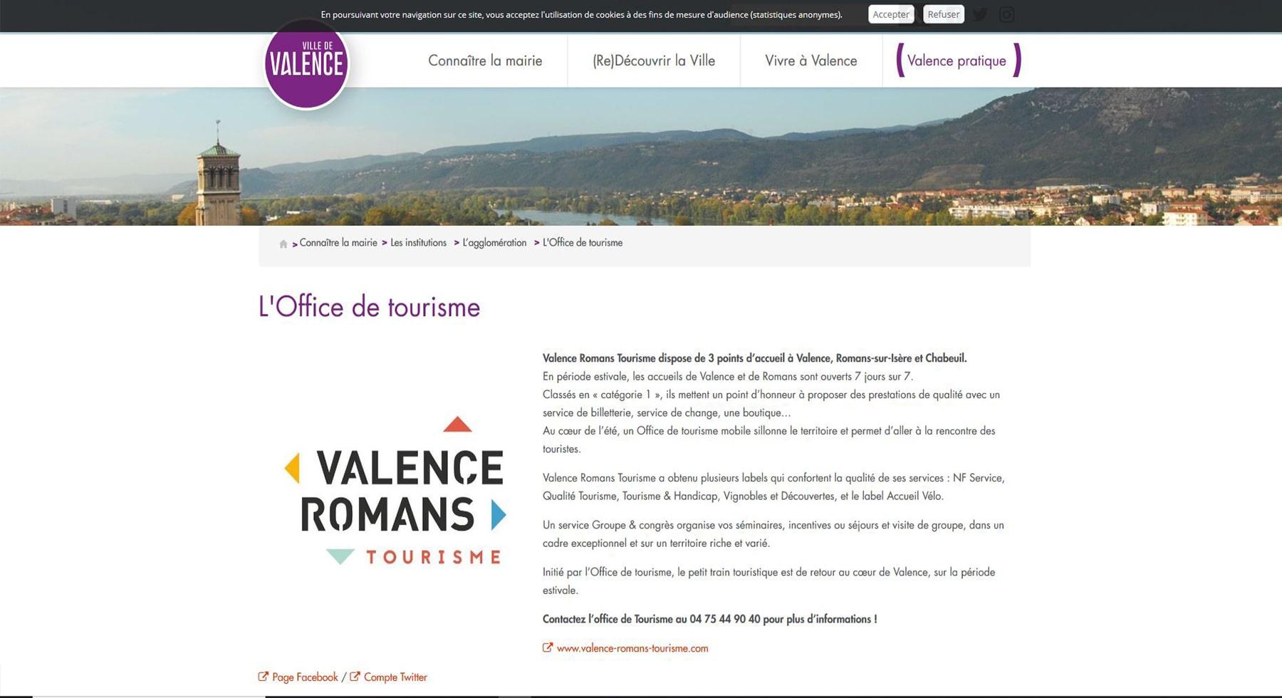 Office de tourisme de Valence
