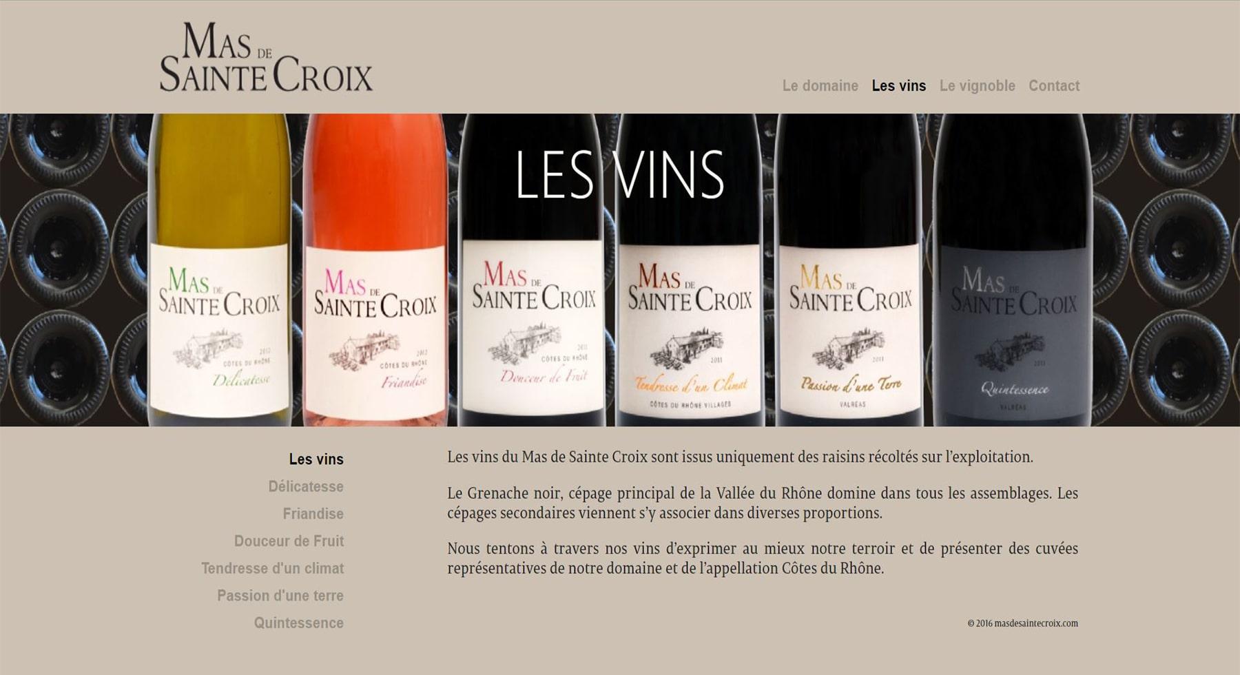 Mas Sainte Croix Vins