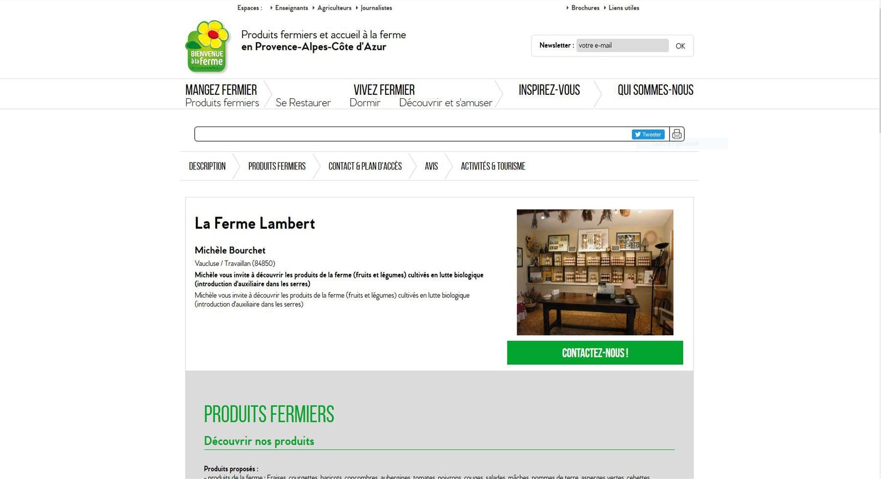 La ferme Lambert