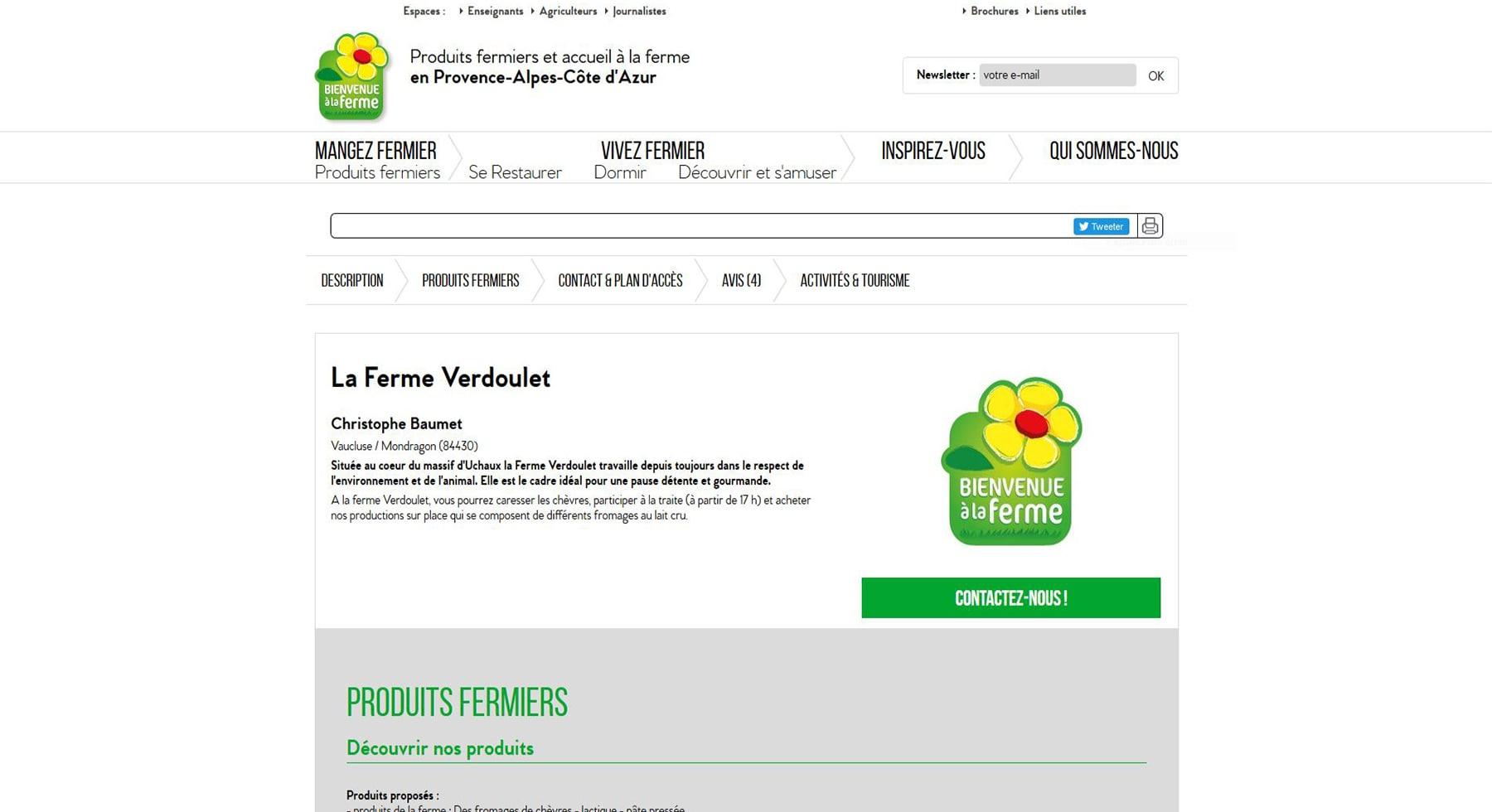 La ferme Verdoulet